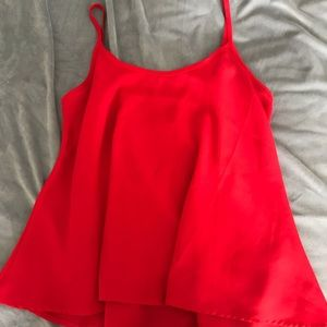 RED CAMI STYLE FLOWY SHIRT